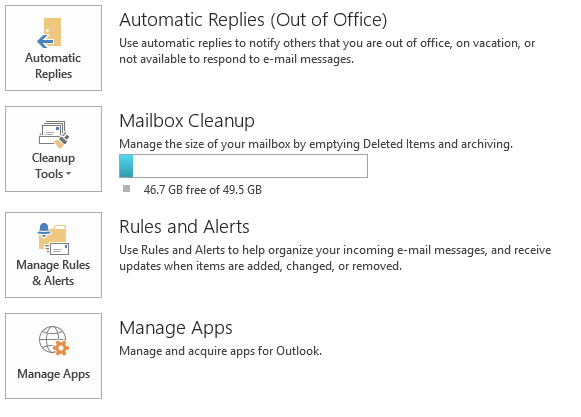 Office 365 Automatic Replies (Out of Office) via Outlook